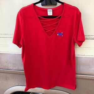 PINK Fourth of July Tee D6